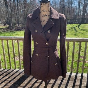 Juicy Couture Wool Blend Pea Coat Size P